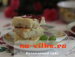 Ароматный фруктовый творожник, запеченный в духовке