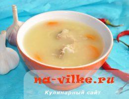 Рыбный суп из пшена и головы карпа