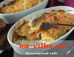 Приготовление картофельного гратена с мясом в духовке