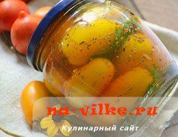 Консервируем желтые томаты с добавлением корицы и горчицы
