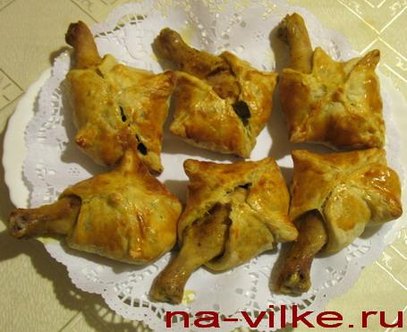 Голени куриные в конвертиках