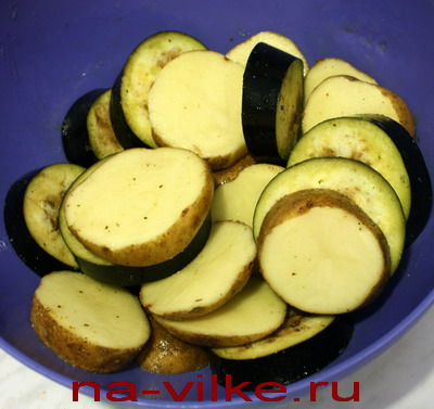 Картофель и баклажан