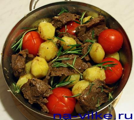 Готовим говядину с картофелем