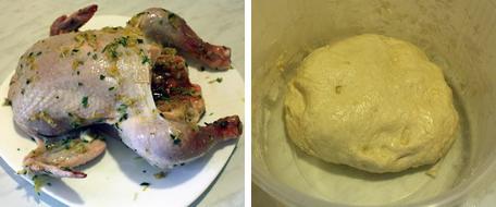 Цыплёнок и тесто