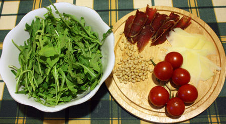 Рукола и ингредиенты