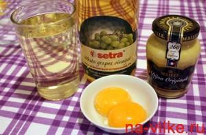 Ингредиенты для приготовления майонеза