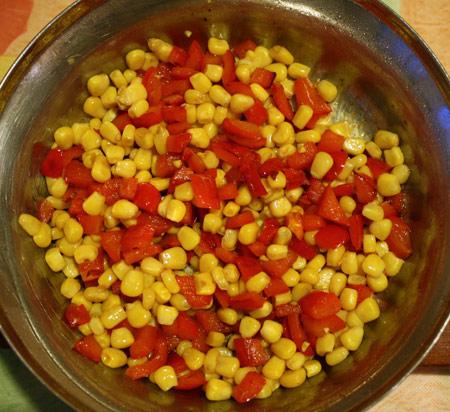 Болгарский перец и кукуруза