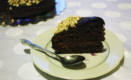 Кусок шоколадного торта