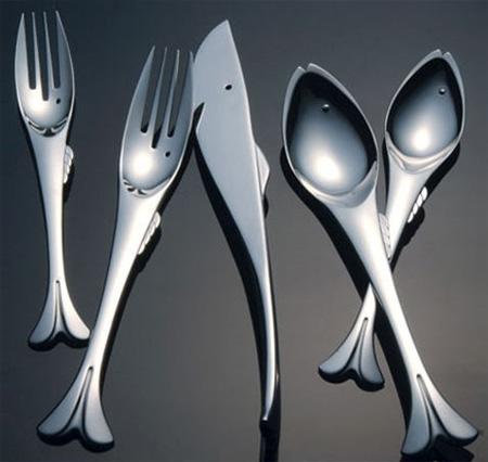 Столовые приборы в виде рыб