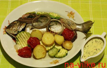 Дорадо и овощи