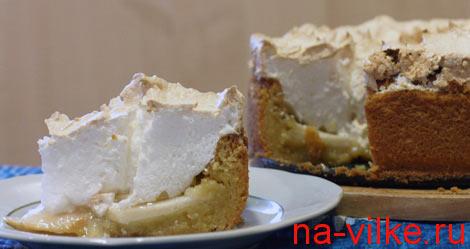 Яблочный сладкий торт
