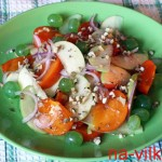 Салат из хурмы и яблока