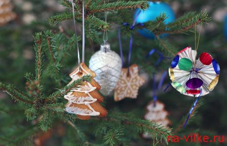 Печенья на ёлке - Новый Год