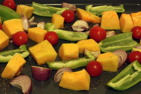 Овощи для запекания на противне