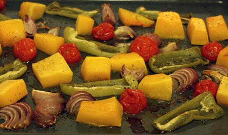 Запечённые в духовке овощи