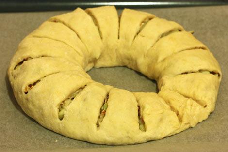 Сырой пирог с яблоками