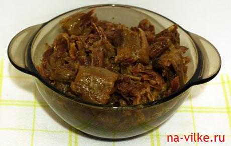 Мясо с одного бычьего хвоста