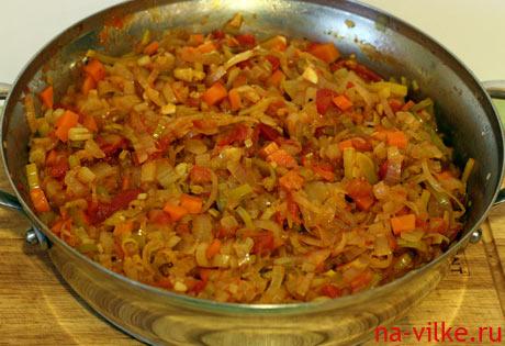 Заправка овощная в суп из бычьих хвостов