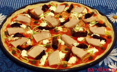 Свинина и вяленые помидоры - топпинг для пиццы