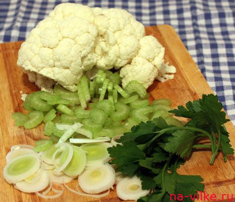 Овощи для супа из цветной капусты