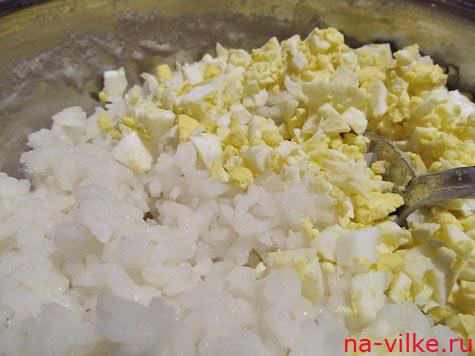Рис и яйца