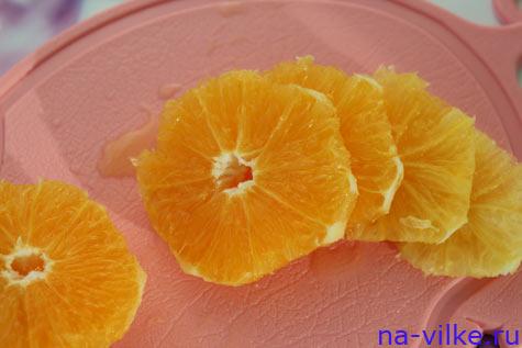 Апельсин кружочками