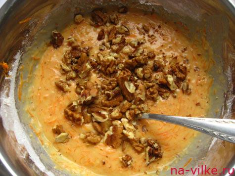 Грецкие орехи в тесто