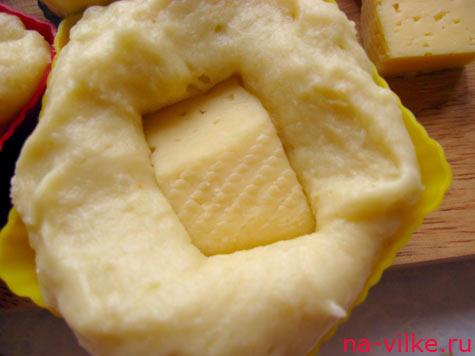 Пюре и сыр