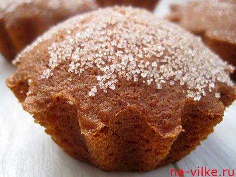Маффины из тыквы с сахаром