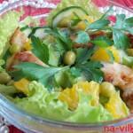 Салат из куриной грудки с апельсинами