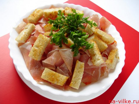 Тёплый салат с тыквой