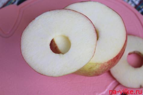 Яблоко колечками