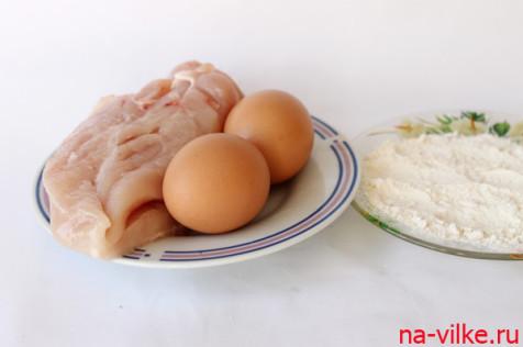 Ингредиенты для приготовления куриных отбивных