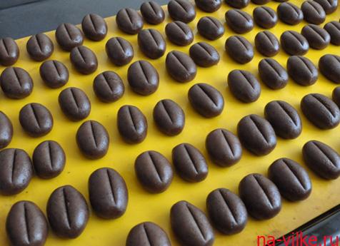 Заготовки для кофейного печенья готовы