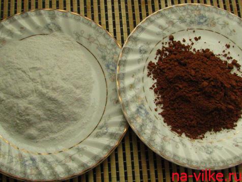 Какао и сахарная пудра
