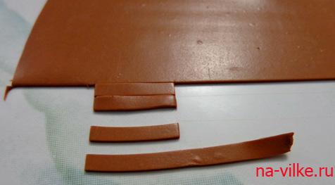 нарезать на полоски полимерную глину