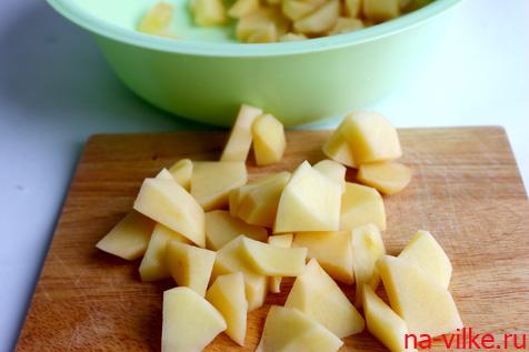 Картофель кубиками