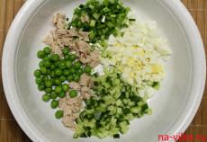 Все ингредиенты для салата