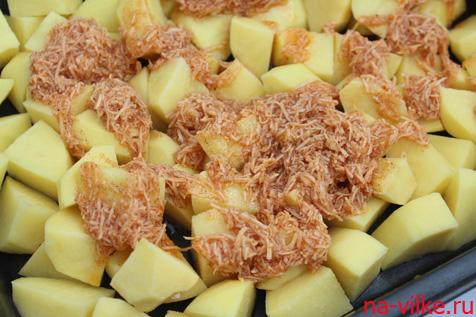 Картофель и сыр со специями