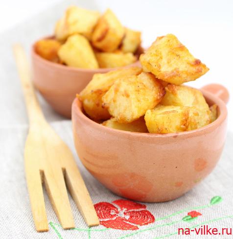 Картофель с сыром приготовленный в духовке