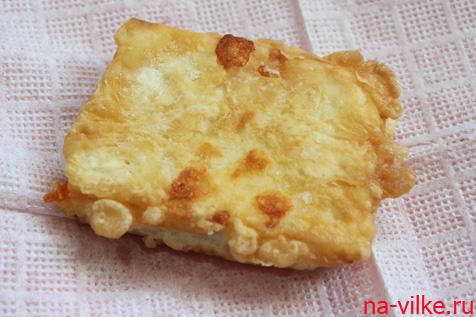 Шницель по-цыгански из ветчины и сыра