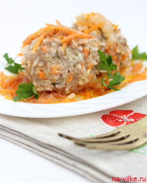 Тефтели с рисом и морковью