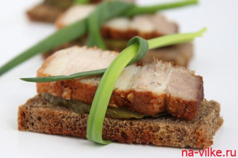 Бутерброд с салом