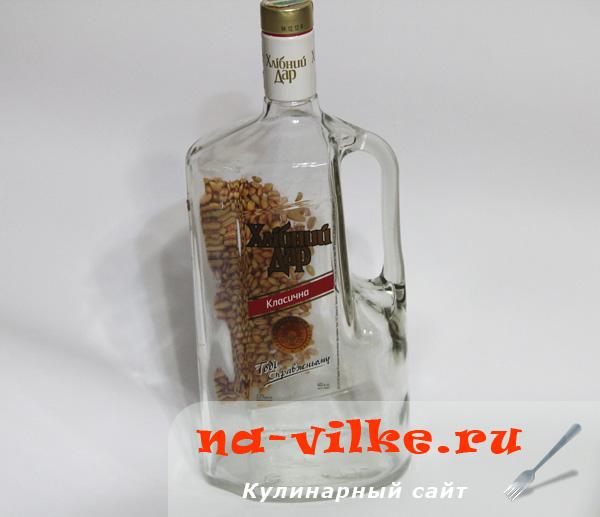 бутылка из под водки