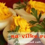 Яйца фаршированные майонезом