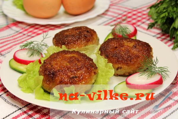 Мясные зразы с омлетом