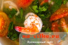 Креветка в супе