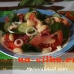 Овощной салат с салями