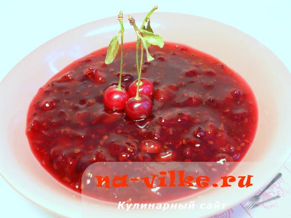 Варенье из красной смородины, ревеня и дикой вишни — приготовление в хлебопечи