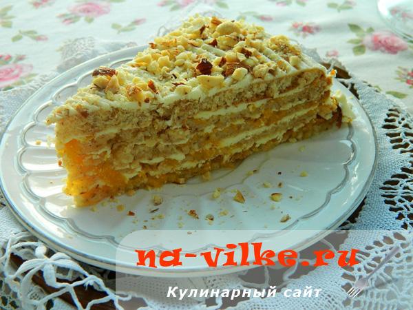 Торт Персиковая нежность - кусок